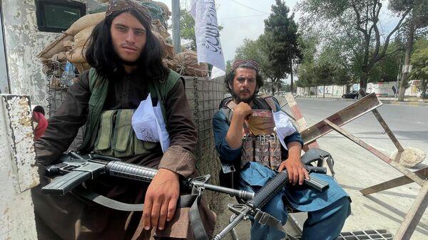 Талибы на контрольно-пропускном пункте в Кабуле - Sputnik Беларусь