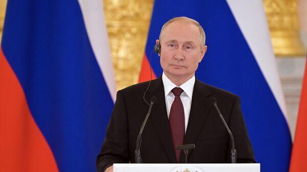 Сустрэча прэзідэнта РФ У. Пуціна з канцлерам Германіі А. Меркель - Sputnik Беларусь