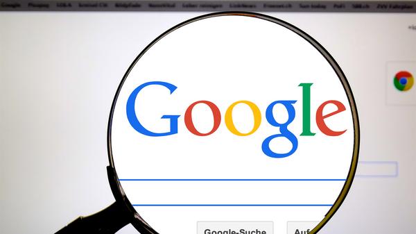 Открытый на компьютере поисковик Google  - Sputnik Беларусь