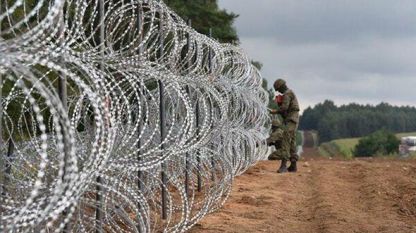 Забор на польско-белорусской границе - Sputnik Беларусь