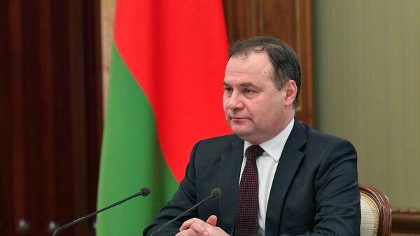 Премьер Беларуси рассказал, как идет переориентация товарных потоков на Россию - Sputnik Беларусь