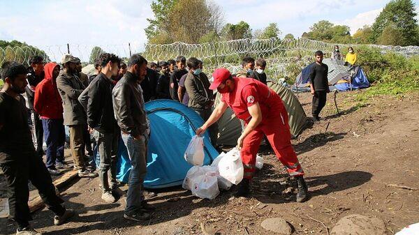 Госпогранкомитет пропустил гуманитарную помощь для беженцев на границе - Sputnik Беларусь
