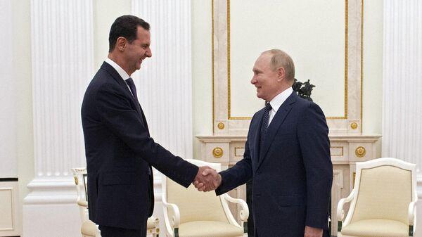 Встреча президента РФ В. Путина с президентом Сирии Б. Асадом - Sputnik Беларусь