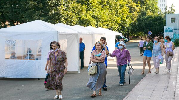 Вакцинация от коронавируса в Кишиневе - Sputnik Беларусь