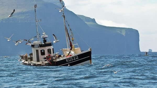 Рыболовное судно на Фарерских островах - Sputnik Беларусь