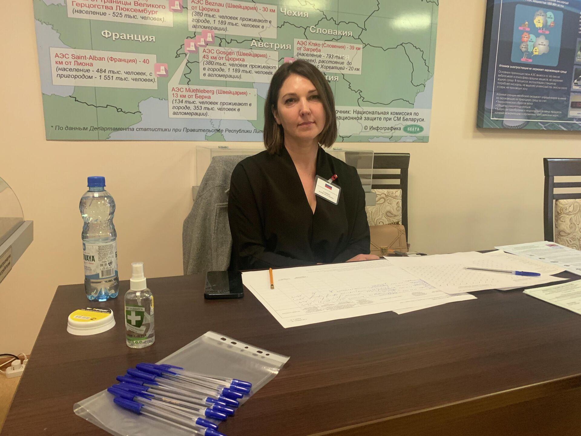 Мария Солнцева обратила внимание, что на выборах много активной молодежи - Sputnik Беларусь, 1920, 18.09.2021