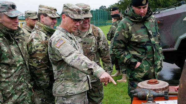 Американские и украинские военные на учениях RAPID TRIDENT - Sputnik Беларусь