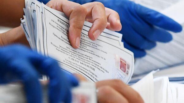 Подсчет голосов на выборах в единый день голосования - Sputnik Беларусь