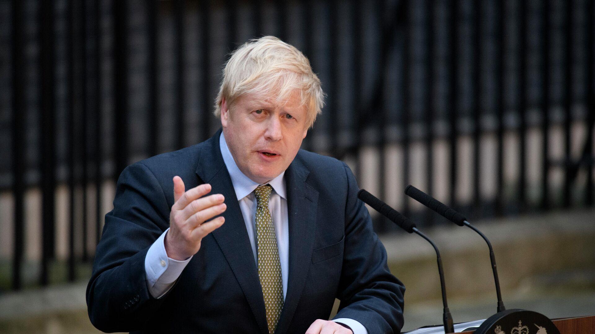 Выступление Б. Джонсона по итогам выборов в Великобритании - Sputnik Беларусь, 1920, 23.09.2021