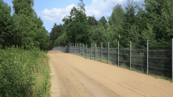 Забор на границе Литвы и Беларуси - Sputnik Беларусь
