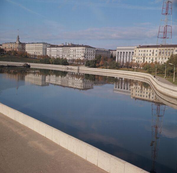 Набярэжная ракі Свіслач у горадзе Мінску, 1971 год. - Sputnik Беларусь