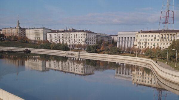 Набережная реки Свислочь в городе Минске, 1971 год - Sputnik Беларусь