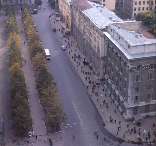 Бульвар на вуліцы Леніна, 1960-я. - Sputnik Беларусь