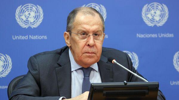 Итоговая пресс-конференция С. Лаврова в Нью-Йорке - Sputnik Беларусь