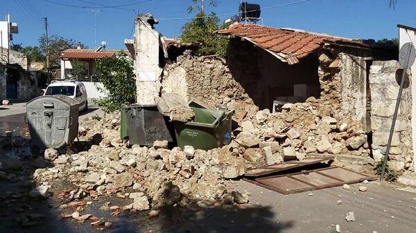 В сети появились кадры последствий землетрясения в Греции – видео  - Sputnik Беларусь