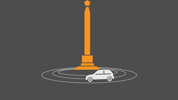 Новая схема движения на площади Победы в Минске - Sputnik Беларусь