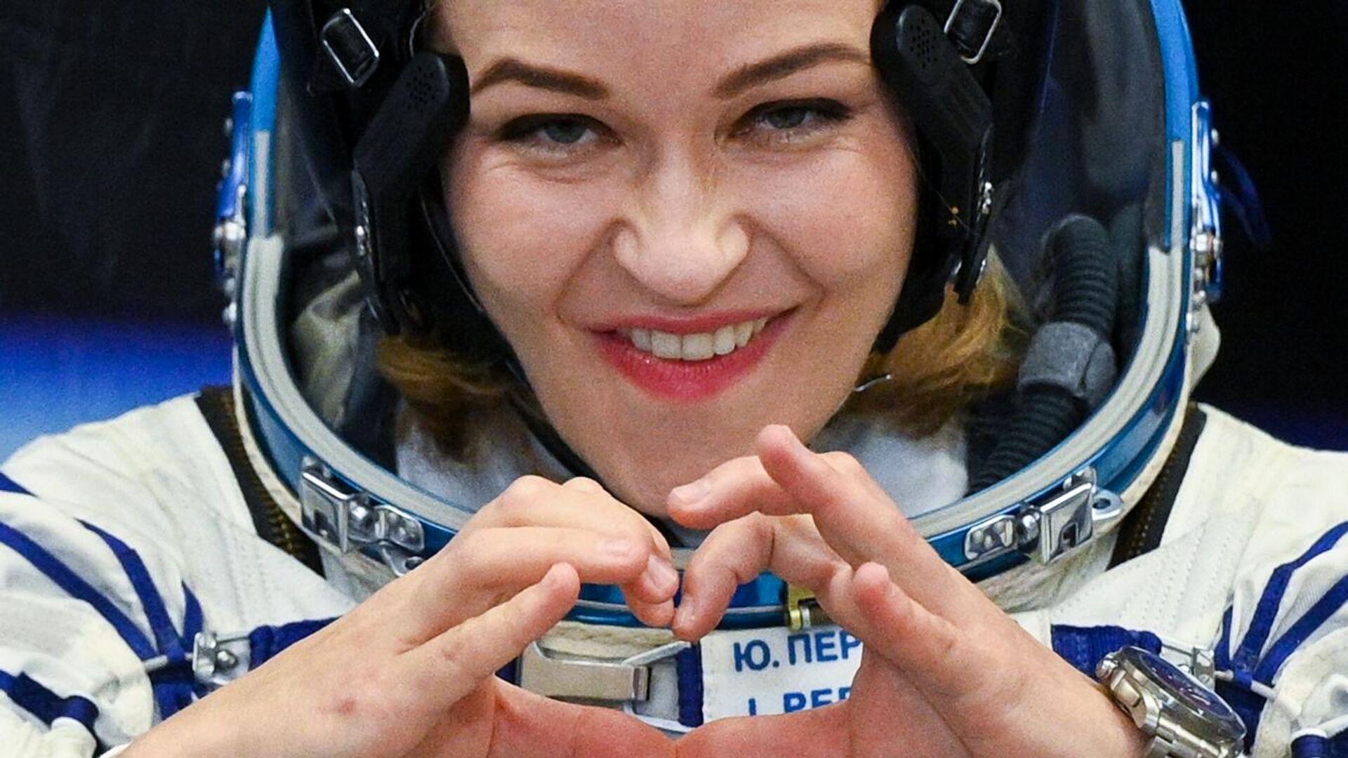 Член основного экипажа 66-й экспедиции на Международную космическую станцию актриса Юлия Пересильд  - Sputnik Беларусь, 1920, 05.10.2021