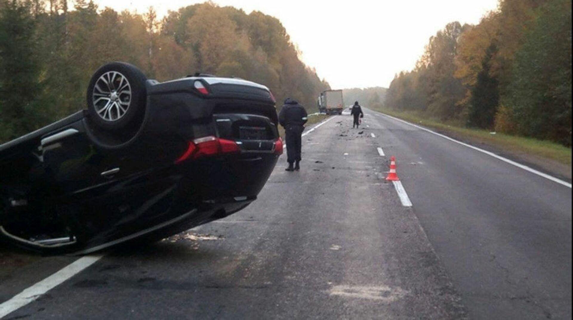 ДТП 5 октября на 68 км автодороги Витебск-Полоцк-граница Латвии - Sputnik Беларусь, 1920, 05.10.2021