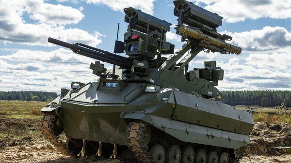 Ударны рабатызаваны комплекс (РТК) Уран-9 - Sputnik Беларусь