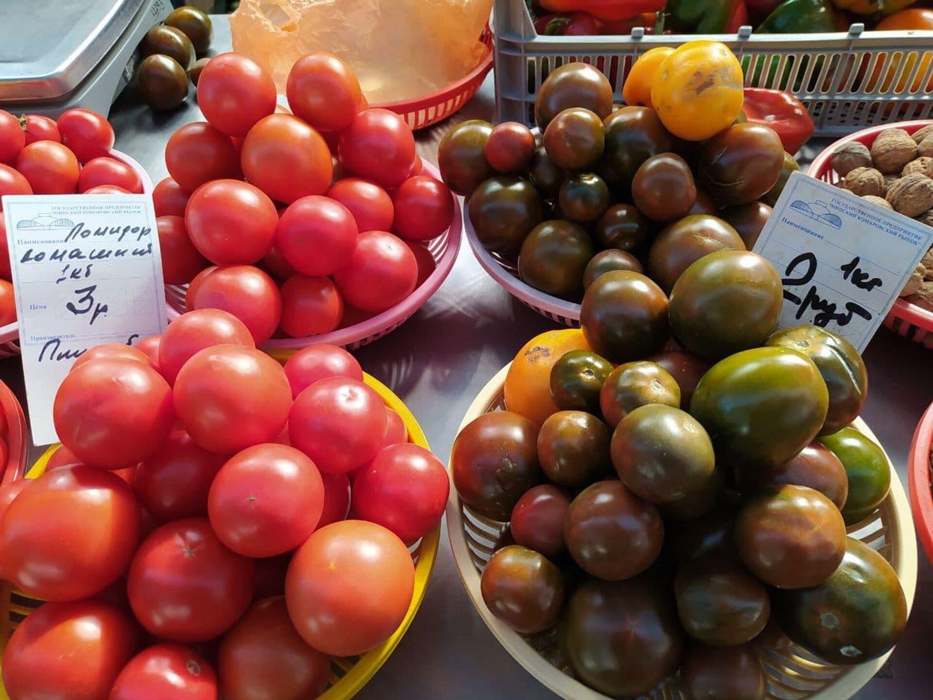 Стоимость помидоров зависит от сорта и размера - Sputnik Беларусь, 1920, 08.10.2021