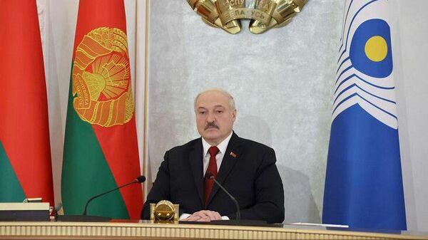 Президент Беларуси Александр Лукашенко принял участие в заседании Совета глав государств СНГ - Sputnik Беларусь