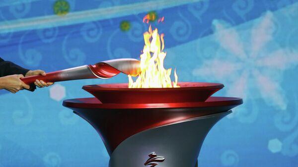 Церемония встречи олимпийского огня в Пекине - Sputnik Беларусь