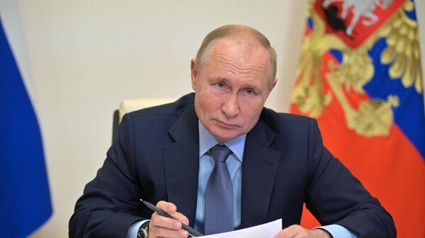 Президент РФ В. Путин провел совещание с членами правительства РФ - Sputnik Беларусь