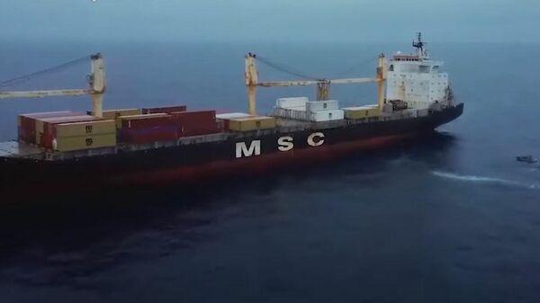 Российские моряки спасли панамский контейнеровоз от пиратов - Sputnik Беларусь