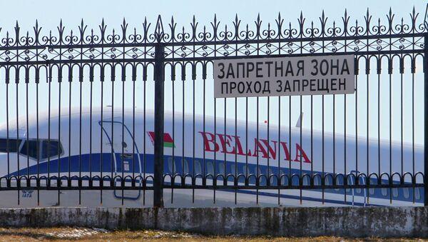 Самолет авиакомпании Белавиа в национальном аэропорту Минск - Sputnik Беларусь