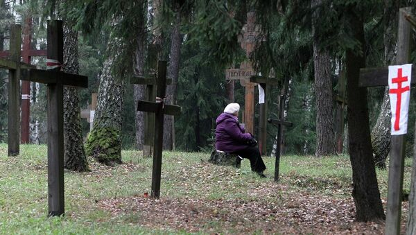 Лясное ўрочышча Курапаты, месца масавых пахаванняў ахвяр сталінскіх рэпрэсій - Sputnik Беларусь