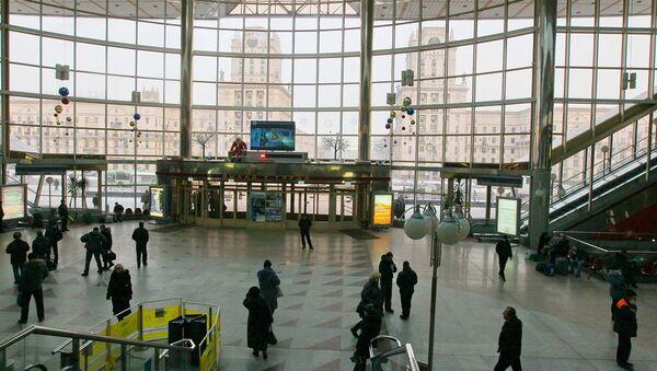 Зал ожидания центрального вокзала, архивное фото - Sputnik Беларусь