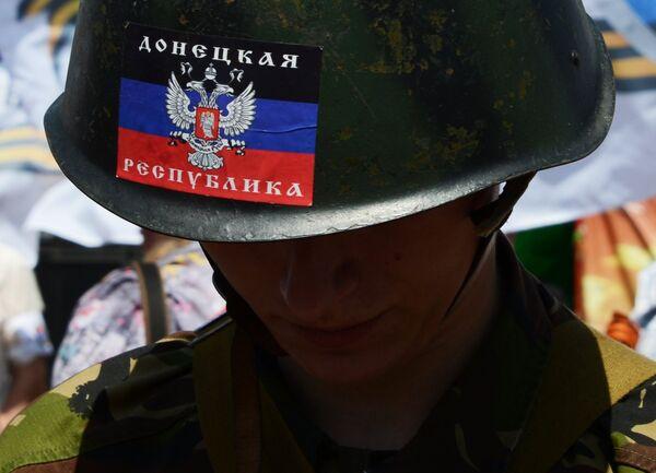 Митинг в поддержку Донецкой Народной Республики (ДНР) на площади Ленина в Донецке - Sputnik Беларусь