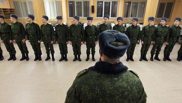 Построение солдат в казарме - Sputnik Беларусь