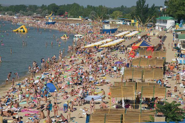 Пляж Анапы, архіўнае фота - Sputnik Беларусь