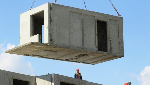 Строительство жилья, архивное фото - Sputnik Беларусь