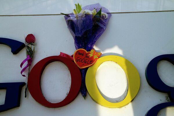 Цветы у офиса Google, архивное фото - Sputnik Беларусь