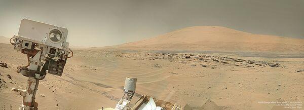 Фото, сделанное марсоходом Curiosity - Sputnik Беларусь