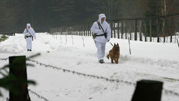 Работа пограничной заставы в Беловежской пуще на границе с Польшей - Sputnik Беларусь
