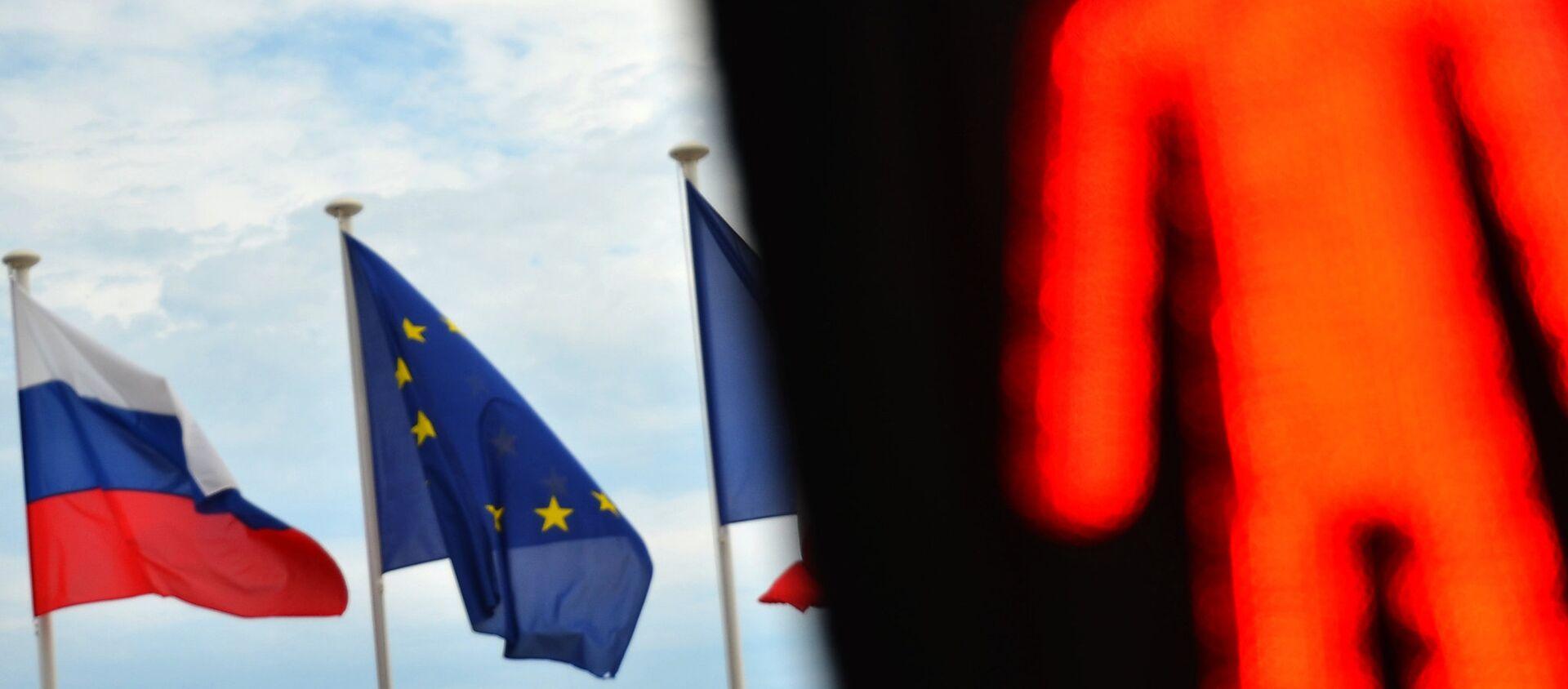 Флаги России, ЕС и Франции - Sputnik Беларусь, 1920, 23.02.2021