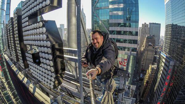 Крыша небоскреба на Таймс-сквер в Нью-Йорке - Sputnik Беларусь