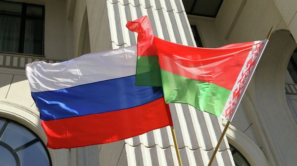 Сцягі Расіі і Беларусі - Sputnik Беларусь