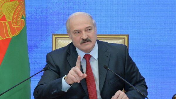 Александр Лукашенко на пресс-конференции 29 января 2015 года - Sputnik Беларусь
