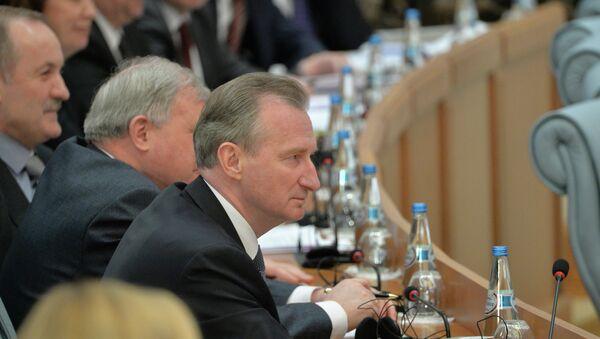 Пресс-конференция Александра Лукашенко, на переднем плане - Александр Косинец - Sputnik Беларусь