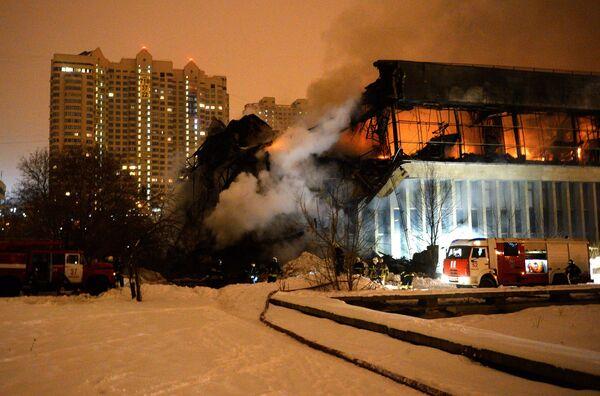Пожар в библиотеке Института общественных наук в Москве - Sputnik Беларусь