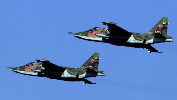Штурмовики Су-25 Грач российских ВВС, архивное фото - Sputnik Беларусь