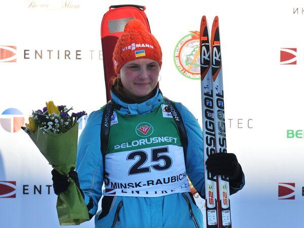 Анна Кривонос (Украина), занявшая первое место в индивидуальной гонке - Sputnik Беларусь