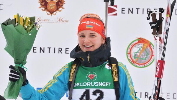 Юлия Журавок (Украина), занявшая 1-е место в индивидуальной гонке - Sputnik Беларусь
