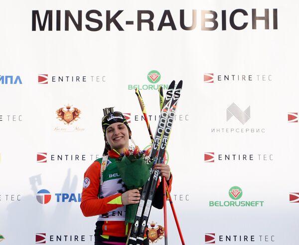 Лена Арно (Франция), занявшая первое место в спринте - Sputnik Беларусь