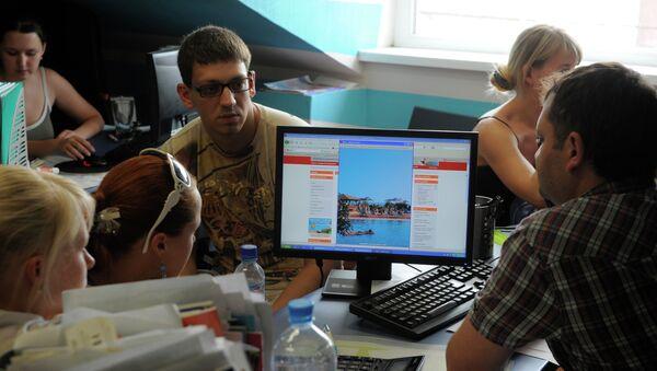 Праца турыстычнага агенцтва, архіўнае фота - Sputnik Беларусь