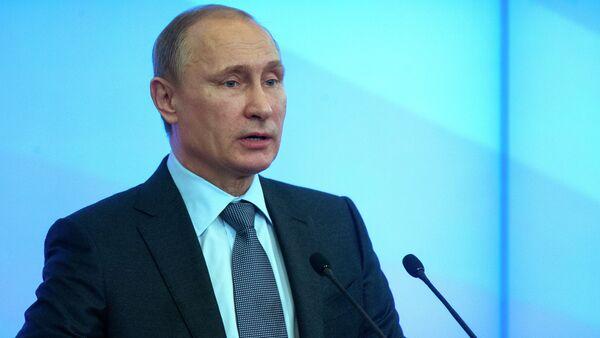 Президент РФ В.Путин , архивное фото - Sputnik Беларусь